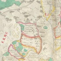 """Map of Ulster with """"Escheated"""" Counties, 1609"""